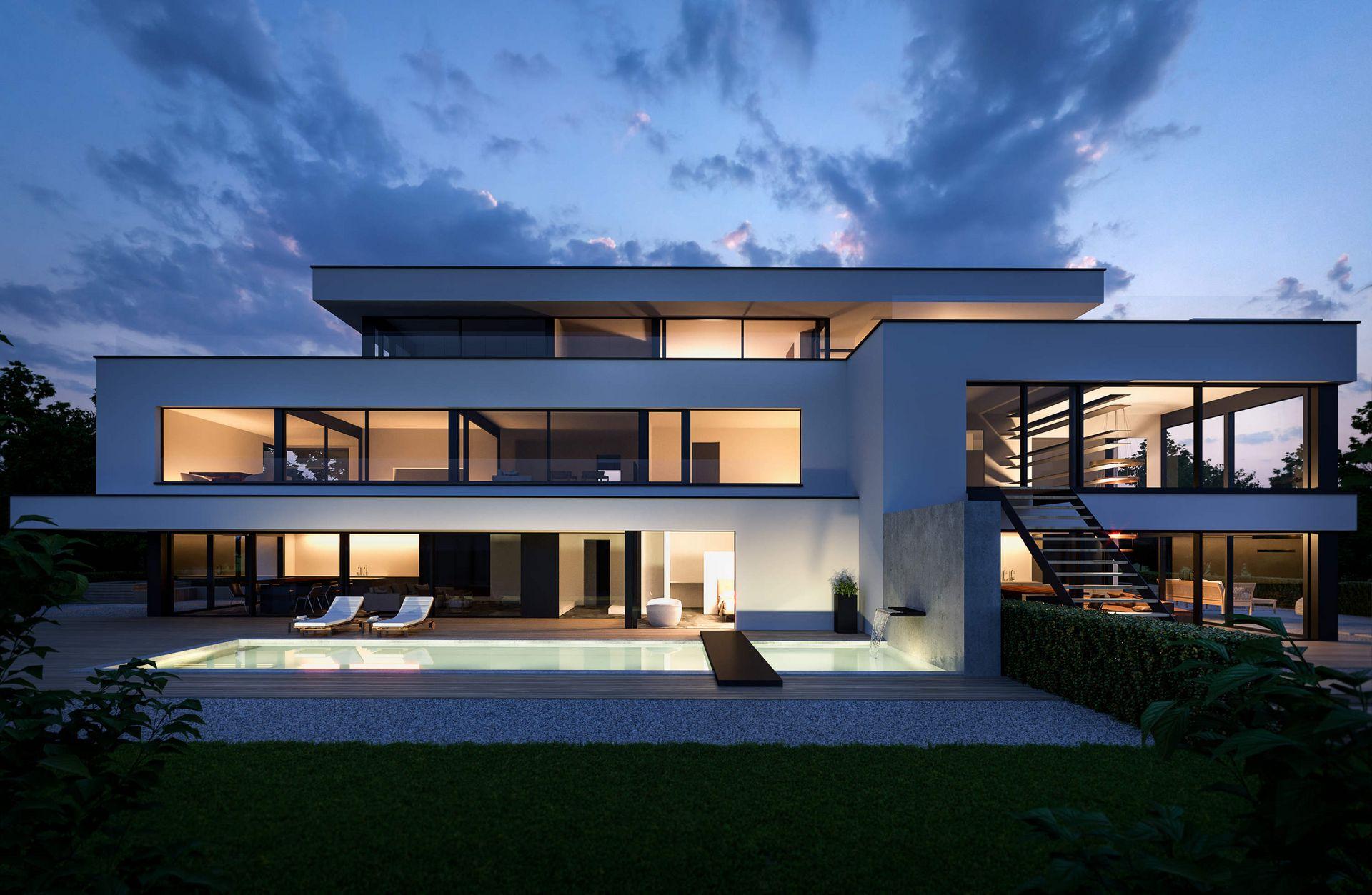 Visualisierung Architektur architekturvisualisierung und 3d visualisierung · gmsvision ·